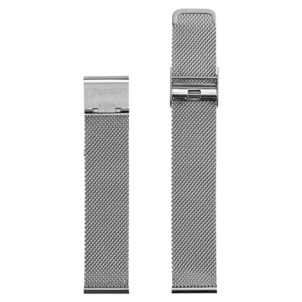 Stainless Steel Watch Strap Silver 18mm