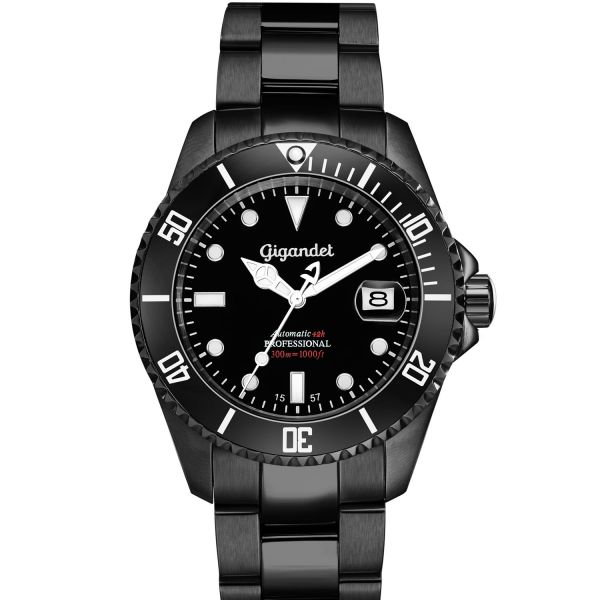 Automatikuhren Herren Schwarz SEA GROUND G2-003