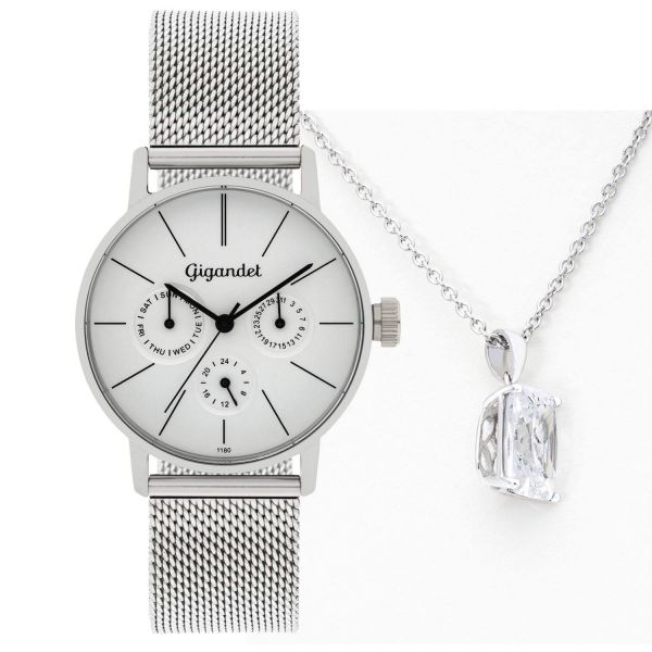 Gift Set Women's Wrist Watch G38-005 + Necklace for free