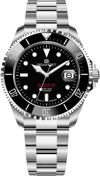Gigandet Herren Automatikuhr Sea Ground 300 - Made in Germany - Keramiklünette - Saphirglas - Swiss Super-LumiNova - 300m wasserdicht - G300-013M-C