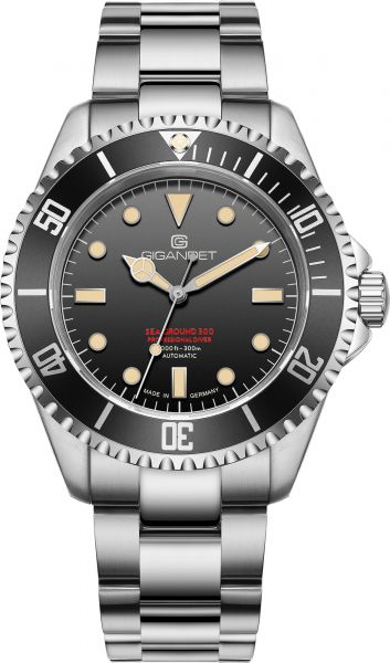 Gigandet Automatikuhr Sea Ground 300 - Made in Germany - Saphirglas - Swiss Super-Luminova - 300m wasserdicht - G300V-007M